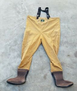 Vintage Orvis Chest High Fly Fishing Waders Tan Size XL Neoprene Foot