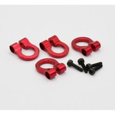 Hot Racing ACC80802 Axial SXC10 Jeep Aluminum Tow Shackle D-Rings (Red) (4)