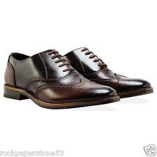 Redfoot in pelle in rilievo CALATA Marrone con Stringhe Oxford Da Uomo Tg UK 10 RRP £ 140