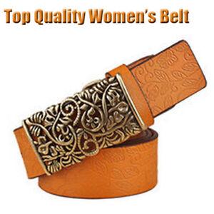 Retro Pattern Nostalgic Womens Belts Genuine Leather Belt for Jeans Size XS-3XL