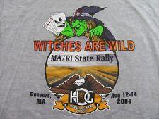 HARLEY DAVIDSON OWNERS GROUP MA/RI State Rally 2004 Souvenir Gray T Shirt Sz XXL