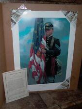 Sergeant Carney's Flag by Michael Gnatek 1997 Framed Civil War Print