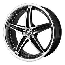 """4-NEW Motegi MR107 17x7.5 5x114.3/5x4.5"""" +45mm Black/Machined Wheels Rims"""