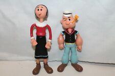 "KFS Popeye/Olive Oyl Bendable Figures 7"" Tall Vintage"