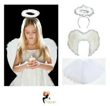WHITE ANGEL Feather TUTU COSTUME  Girls Fancy Dress Christmas Party Outfit
