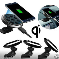 Antislip Qi Wireless Car Charger Transmitter Holder Fast Charging For Smartphone