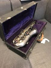 Vintage 1928 King H. N. White Silver Alto Saxophone Fixed In 2013 Stored Since