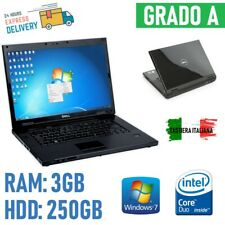 """Notebook Laptop PC Dell Vostro 1510 CORE2DUO 2.00GHz 15,5 """" 3GB 250GB HDD Wind"""