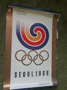 SEOUL KOREA 1988 OLYMPICS ORIGINAL POSTER