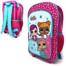 LOL Surprise Deluxe Trolley Backpack Cabin Bag Kids Children Pink Dolls Suitcase