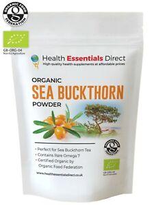 Organic Sea Buckthorn Powder (Vitamin C, Rare Omega 7, Super Fruit) Choose Size