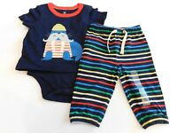 NWT Gap Baby Boy 2 Pc Body Double Walrus/Joggers 6-12M 12-18M MSRP$35 New
