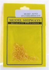 Model Shipways Fittings MS 0957 Split Ring, Brass 5/16'' (8mm) 40/pack. NEW.