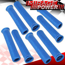 For Bmw 8 Piece Spark Plug Wire Insulator Protector Sleeve Plug Boot Motor Blue