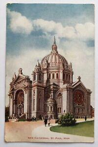 NEW CATHEDRAL St. Paul, Minnesota Souris North Dakota Postcard c.1908;J274
