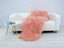 Real ICELANDIC Double Sheepskin Rug Throw Sofa Floor Cover DP1