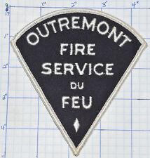 CANADA, OUTREMONT FIRE SERVICE DU FEU INCENDIE MONTREAL QUEBEC VINTAGE PATCH