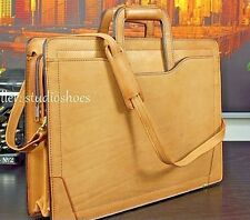 RENWICK Canada Belting Leather Attache Briefcase Shoulder Bag Gents Mens NEW