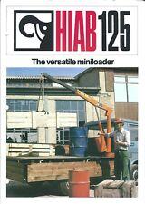 Equipment Brochure Hiab 125 Crane Miniloader For Truck C1970s E4778