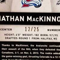 2013-14 Totally Certified Nathan Mackinnon Rookie Auto Patch /25 GORGEOUS RC SSP