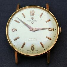 YASMA Large Automatic Gold Plated Vintage Watch EB 1575 Reloj Montre Orologio