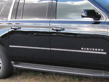 2015-2018 CHEVROLET SUBURBAN 4 Piece Stainless Steel Body Molding Insert Trim