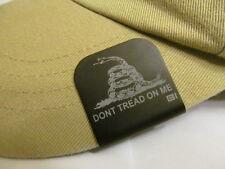 Don't Tread On Me Gadsden Flag Laser Etched Aluminum Hat Clip Black Brim-it
