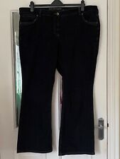 FAB DEBENHAMS DARK BLUE DENIM STRETCH BOOTCUT JEANS - SIZE 22!!
