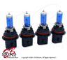 12V 65/55w 9007 Super White 5000K Xenon Gas HID High Low Beam Light Bulb 4pcs