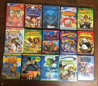 Lot 20 Kids Movies DVDs Alice in Wonderland Shrek Nemo Kung Fu Panda Monsters