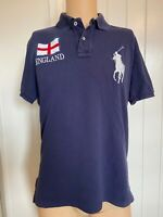"Polo Ralph Lauren Mens Shirt Size M Medium Short Sleeve Blue England 21"" Vintage"