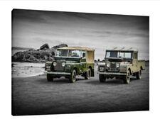 Landrover Defender Serie 1 - 30x20 pulgadas Lienzo Foto Enmarcada