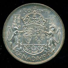 "1943 King George VI, Silver Fifty Cent Piece,  Far ""3""  L121"