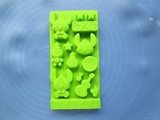 Lilo & stitch Cake Mold Flexible Silicone Mould For Candy Ice lattice ice tray