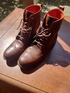 Allen Edmonds Dalton Boot Coffee -- Size 9.5E -- Chili