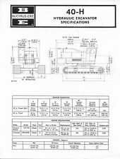 Bucyrus-Erie 40-H Hydraulic Excavator Specifications
