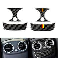 Carbon Fiber Rear AC Air Vent Outlet Cover For Mercedes Benz C Class W205 GLC