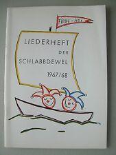 Liederheft der Schlabbdewel 1967/68 Mannheim Fastnacht Fasnet