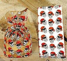 24 Birthday Party PIRATE SKULL Favor GOODY LOOT Treat CELLO BAGS - NEW
