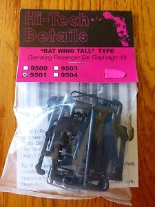 Hi-Tech Details HO #9501  Bat Wing Tall Diaphragms 1 Pair -- Black