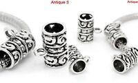 Charm Hanger Bail Dangle Hook Fit European Beads Pendant Column Silver Wholesale