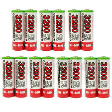 14 pcs AA 3200mAh NIMH Rechargeable Battery HR6 LR06 2A UltraCell Plus Red