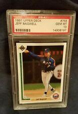 1991 Upper Deck Jeff Bagwell #755 PSA 10 RC rookie card HOF
