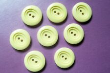 8 vintage cream buttons 22 mm. diameter