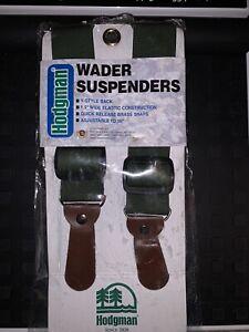 """NEW 36"""" Hodgman  1.5"""" Wide Wader Suspenders Adjustable Y Style Quick Release"""