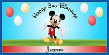 Personalized Mickey Mouse Theme Big Birthday Party Vinyl Banner Sign Decoration