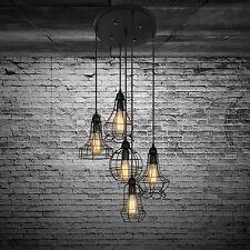 Industrial Hanging Pendant Light Fixture for Kitchen Island Dining Metal Rustic