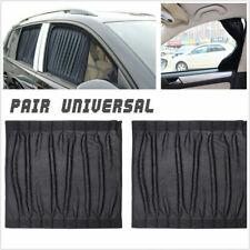 2X 50*39cm Black Adjustable Car Interior Side Window Glass Sunshades Curtain #F