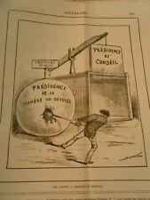 Caricature 1884 - Piège à Souris Fromage pas disposé à changé de domicile