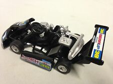 "Turbo Go Kart, Engine, Racing Car, 5.25"" Diecast, Pull Back, Kids Fun,Toy, Black"